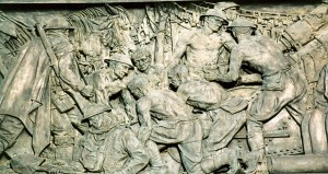Part of the frieze by Rayner Hoff in the war memorial in Hyde Park -  in Sydney