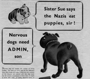 Snapshot nazis eat dogs